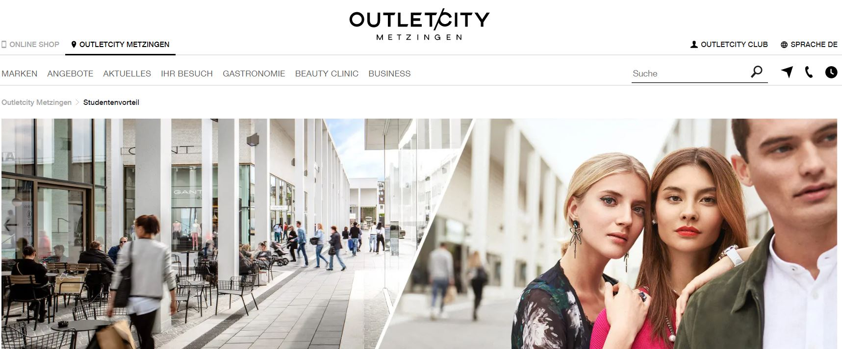Studentenrabatte bei OUTLETCITY: